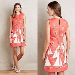 Anthropologie Maeve Berru Poplin Dress